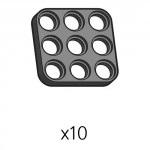 플레이트 (SPD-3b3(K)) 10개